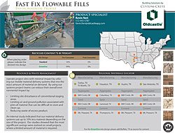 Fast Fix Flowable Fills